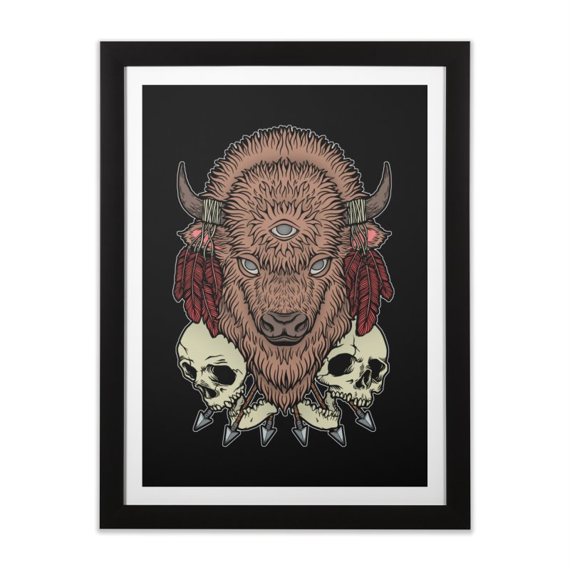 Wild Bison Home Framed Fine Art Print by Deniart's Artist Shop