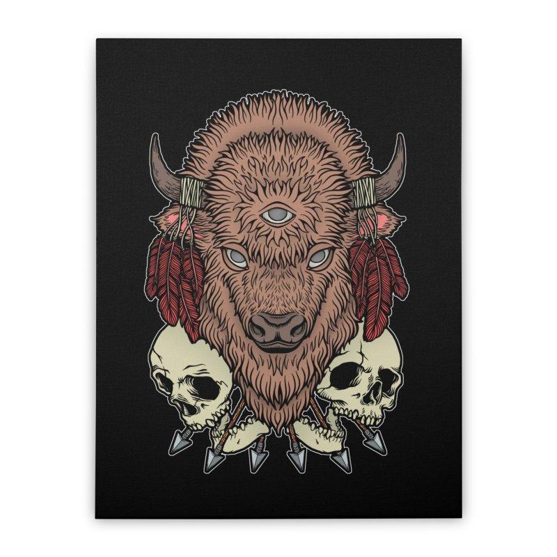 Wild Bison Home Stretched Canvas by Deniart's Artist Shop