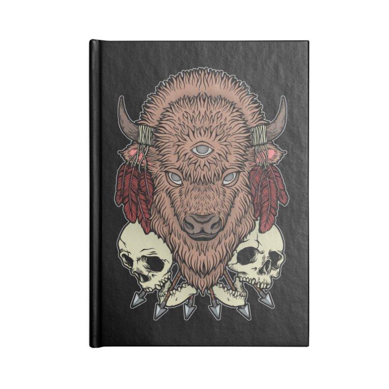 Wild Bison Accessories Lined Journal Notebook by Deniart's Artist Shop