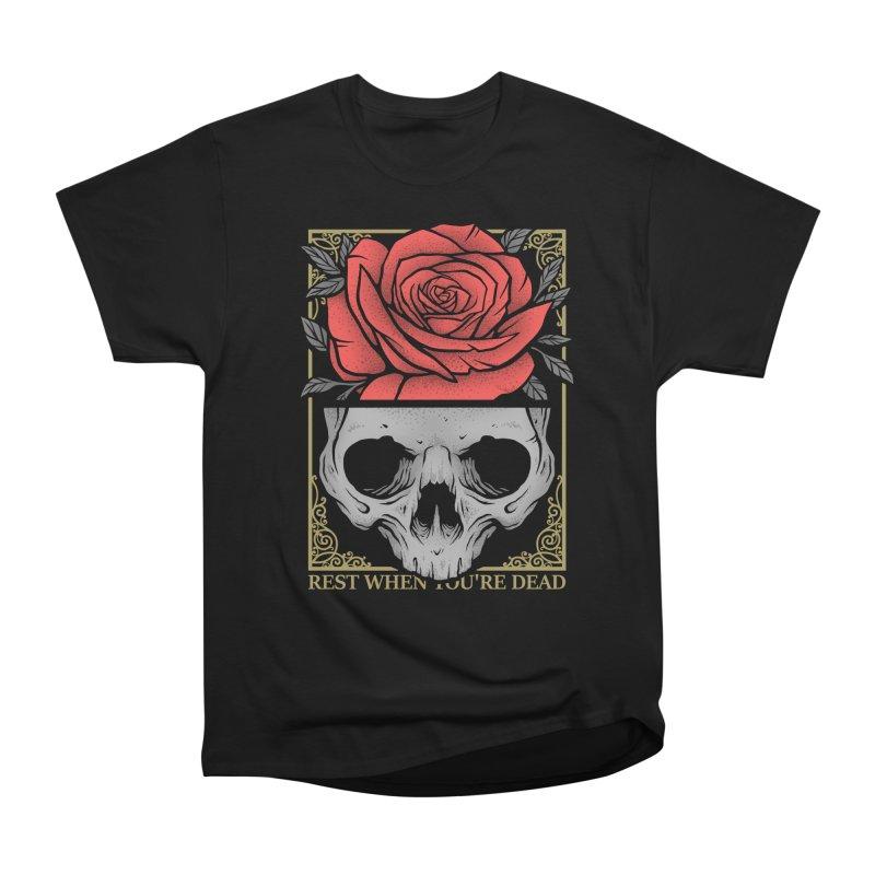 Rest When You're Dead Men's Heavyweight T-Shirt by Deniart's Artist Shop