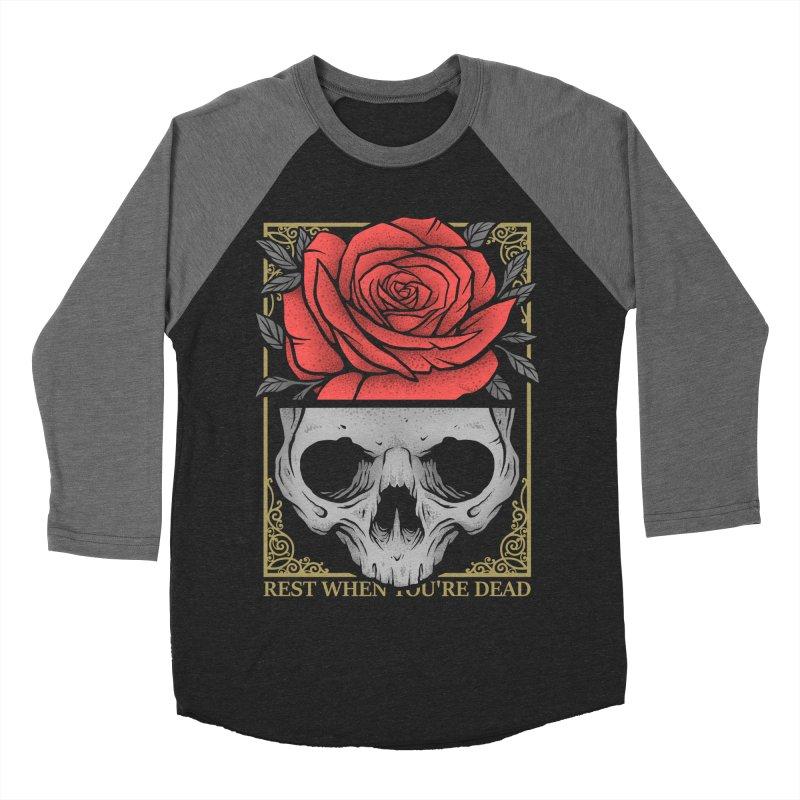 Rest When You're Dead Women's Baseball Triblend Longsleeve T-Shirt by Deniart's Artist Shop
