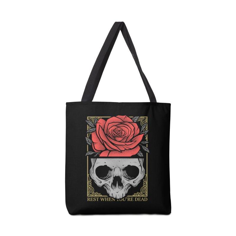 Rest When You're Dead Accessories Tote Bag Bag by Deniart's Artist Shop