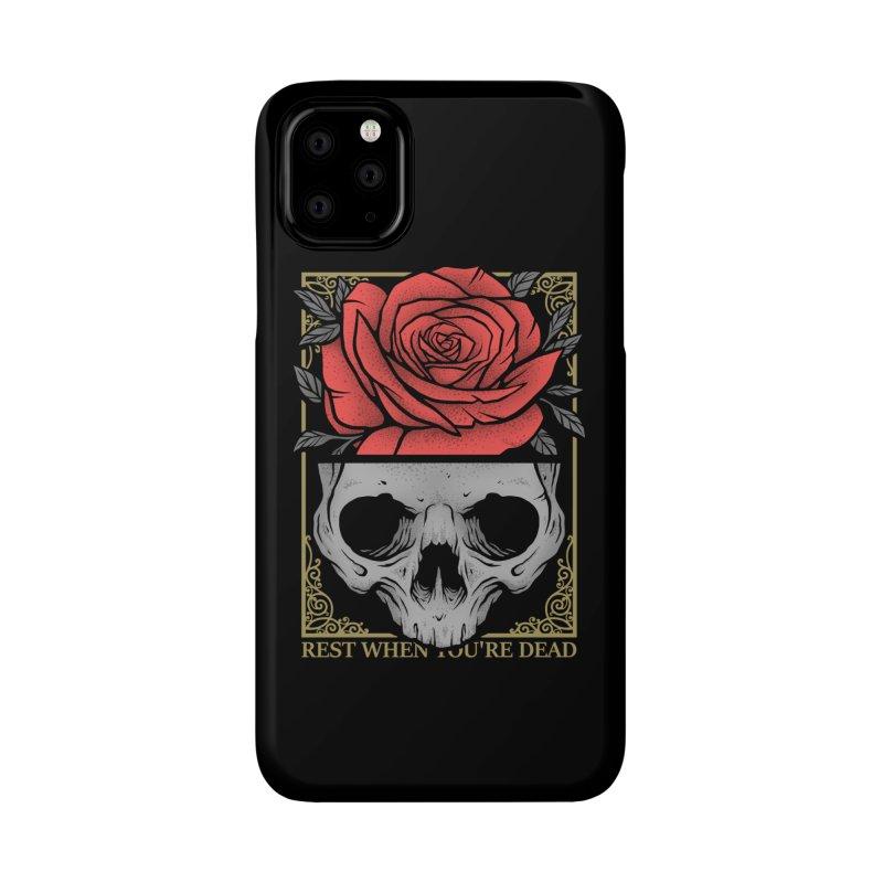 Rest When You're Dead Accessories Phone Case by Deniart's Artist Shop