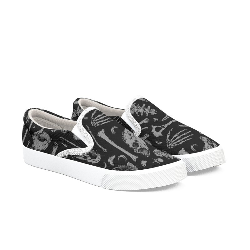 Bones Men's Slip-On Shoes by Deniart's Artist Shop