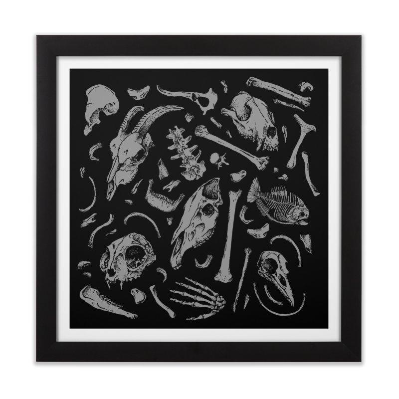 Bones Home Framed Fine Art Print by Deniart's Artist Shop
