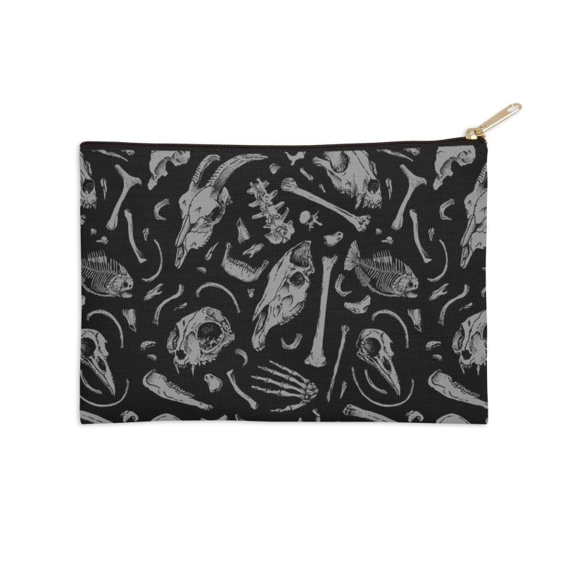Bones Accessories Zip Pouch by Deniart's Artist Shop