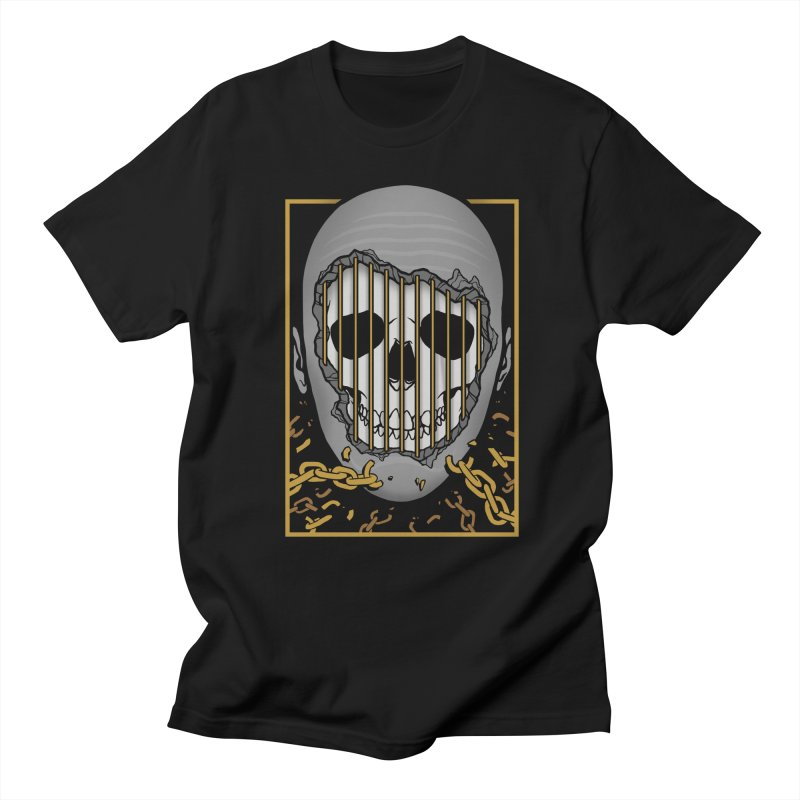 Prisoner of Myself Men's Regular T-Shirt by Deniart's Artist Shop