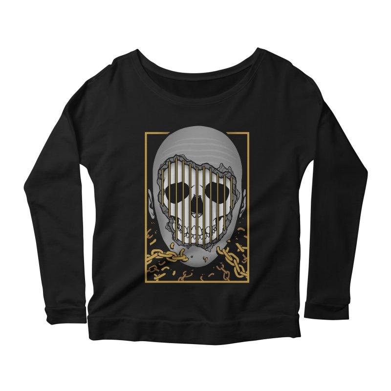 Prisoner of Myself Women's Scoop Neck Longsleeve T-Shirt by Deniart's Artist Shop