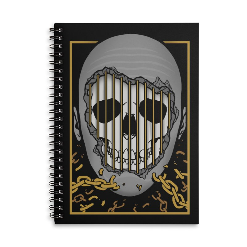 Prisoner of Myself Accessories Lined Spiral Notebook by Deniart's Artist Shop