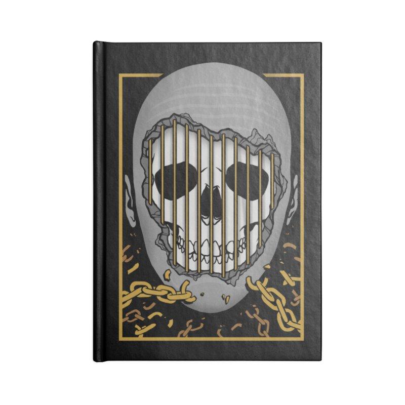 Prisoner of Myself Accessories Lined Journal Notebook by Deniart's Artist Shop