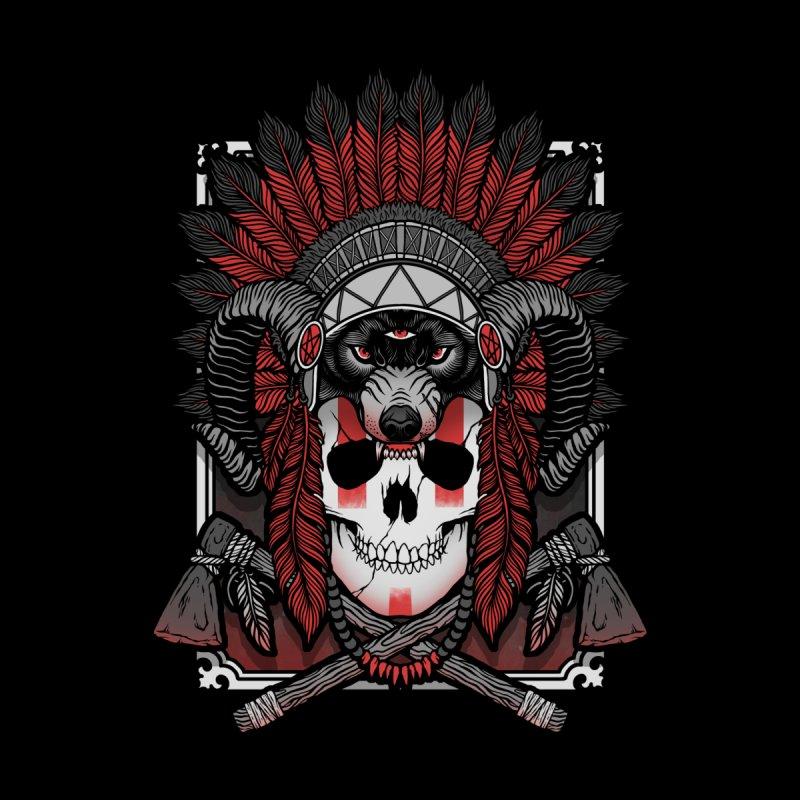 Native Skull Men's Sweatshirt by Deniart's Artist Shop