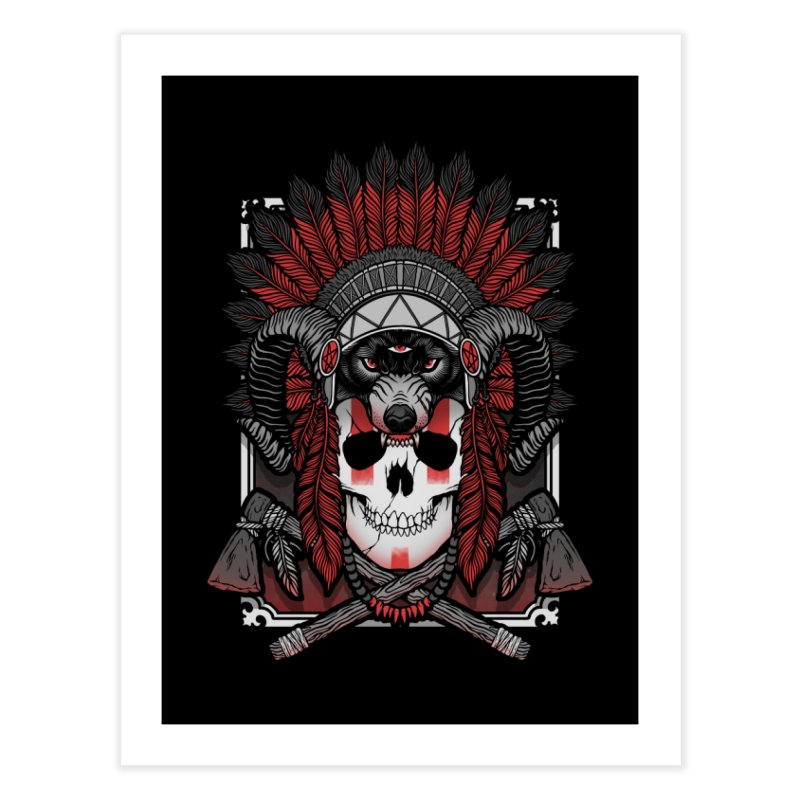Native Skull Home Fine Art Print by Deniart's Artist Shop