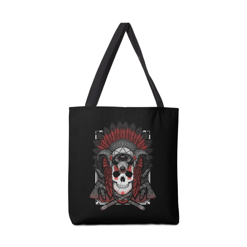 Native Skull Accessories Tote Bag Bag by Deniart's Artist Shop