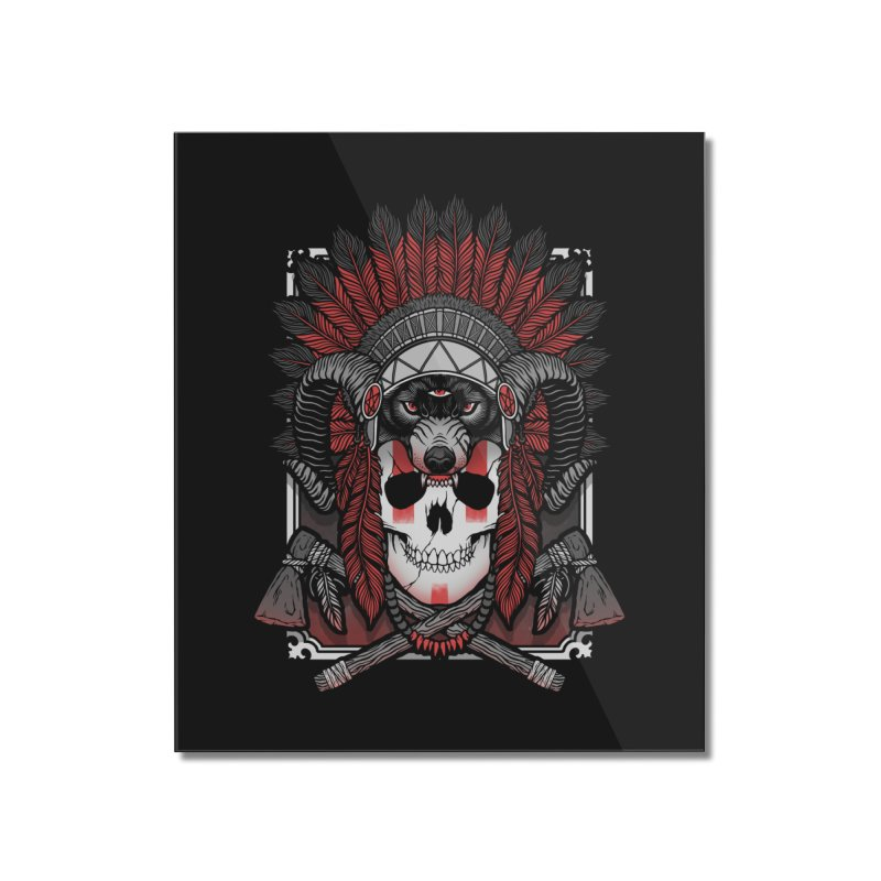 Native Skull Home Mounted Acrylic Print by Deniart's Artist Shop