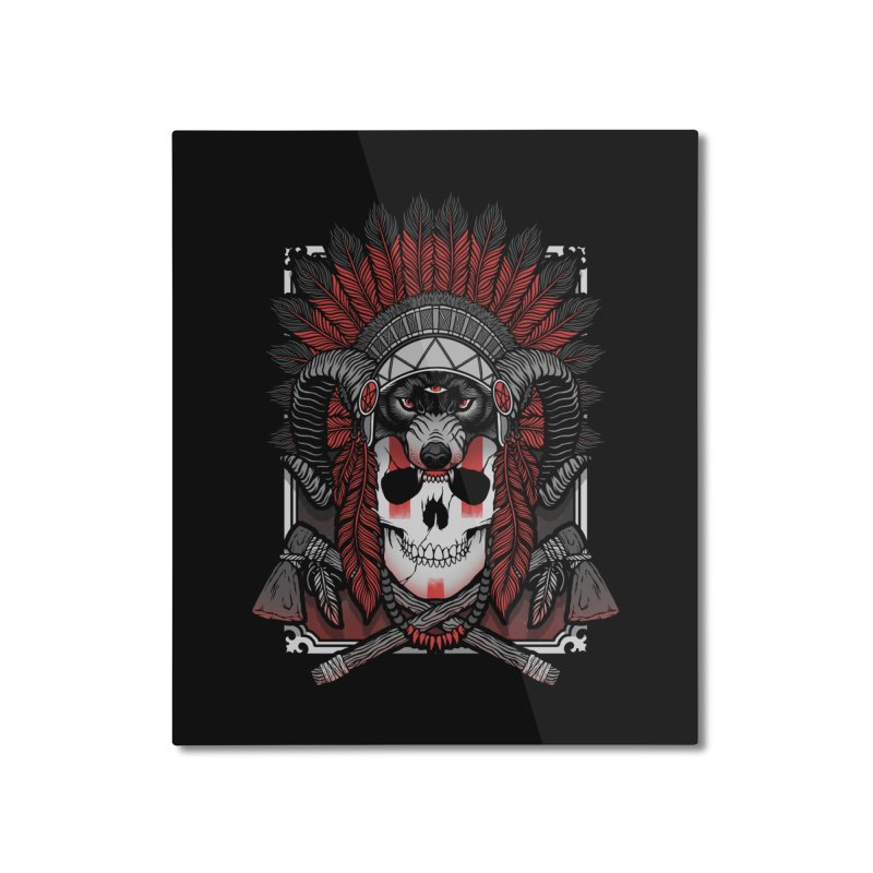 Native Skull Home Mounted Aluminum Print by Deniart's Artist Shop