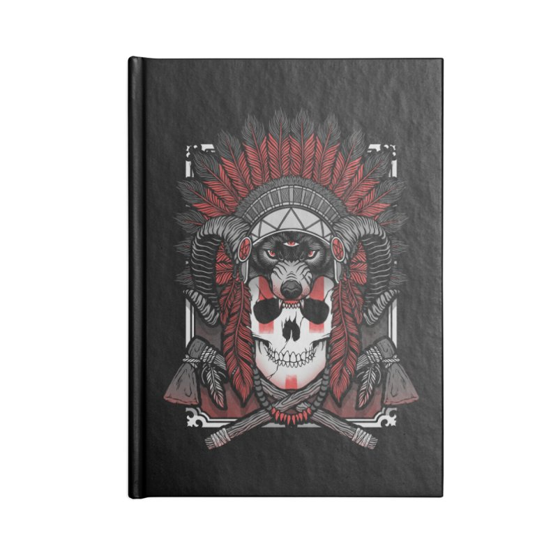 Native Skull Accessories Lined Journal Notebook by Deniart's Artist Shop