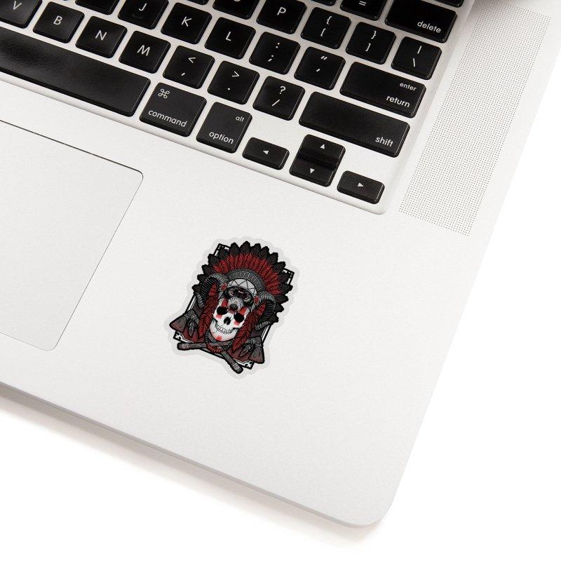 Native Skull Accessories Sticker by Deniart's Artist Shop