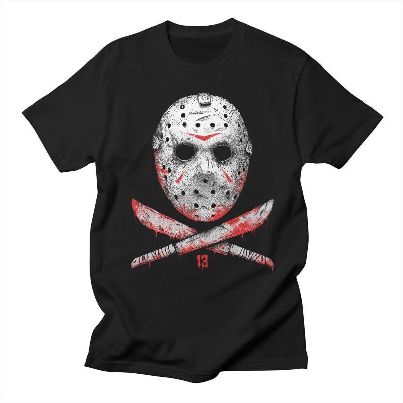 Friday 13 Men's Regular T-Shirt by Deniart's Artist Shop