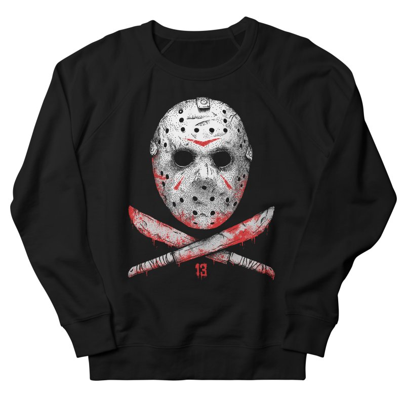 Friday 13 Men's French Terry Sweatshirt by Deniart's Artist Shop