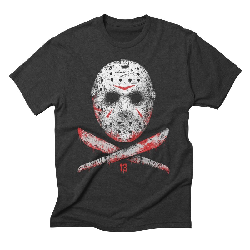 Friday 13 Men's Triblend T-Shirt by Deniart's Artist Shop