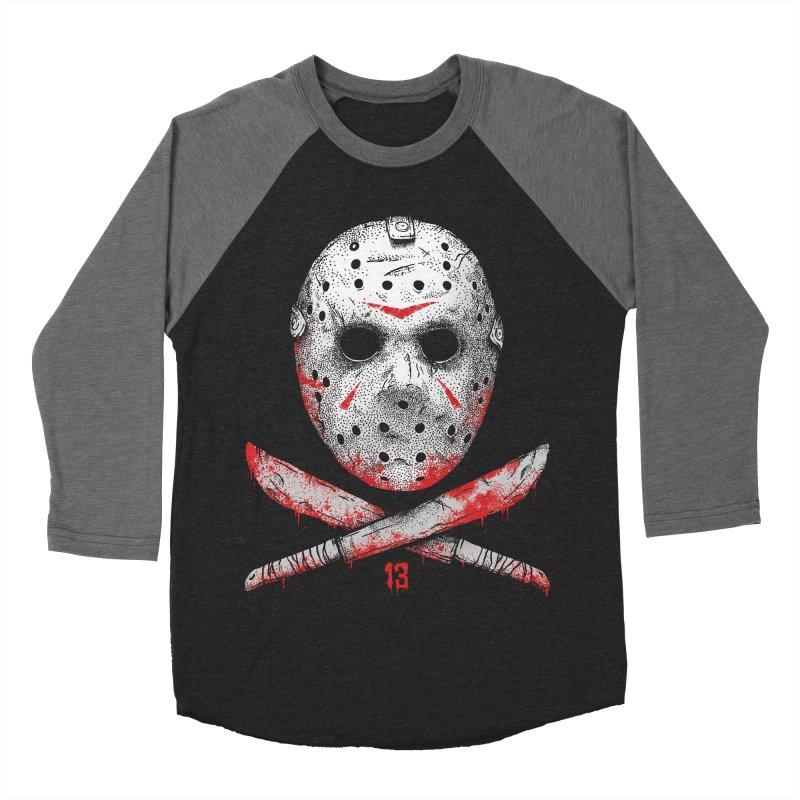 Friday 13 Men's Baseball Triblend Longsleeve T-Shirt by Deniart's Artist Shop