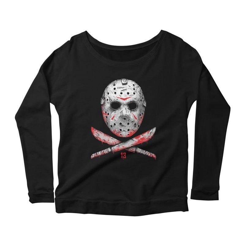 Friday 13 Women's Scoop Neck Longsleeve T-Shirt by Deniart's Artist Shop