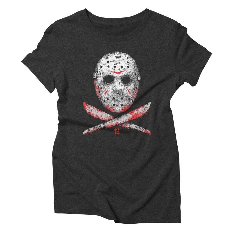 Friday 13 Women's Triblend T-Shirt by Deniart's Artist Shop