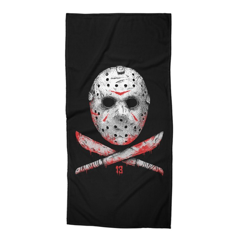 Friday 13 Accessories Beach Towel by Deniart's Artist Shop