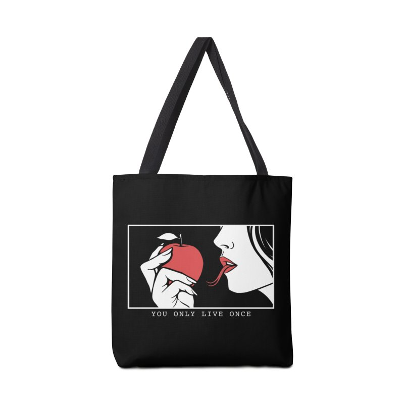 You Only Live Once Accessories Tote Bag Bag by Deniart's Artist Shop