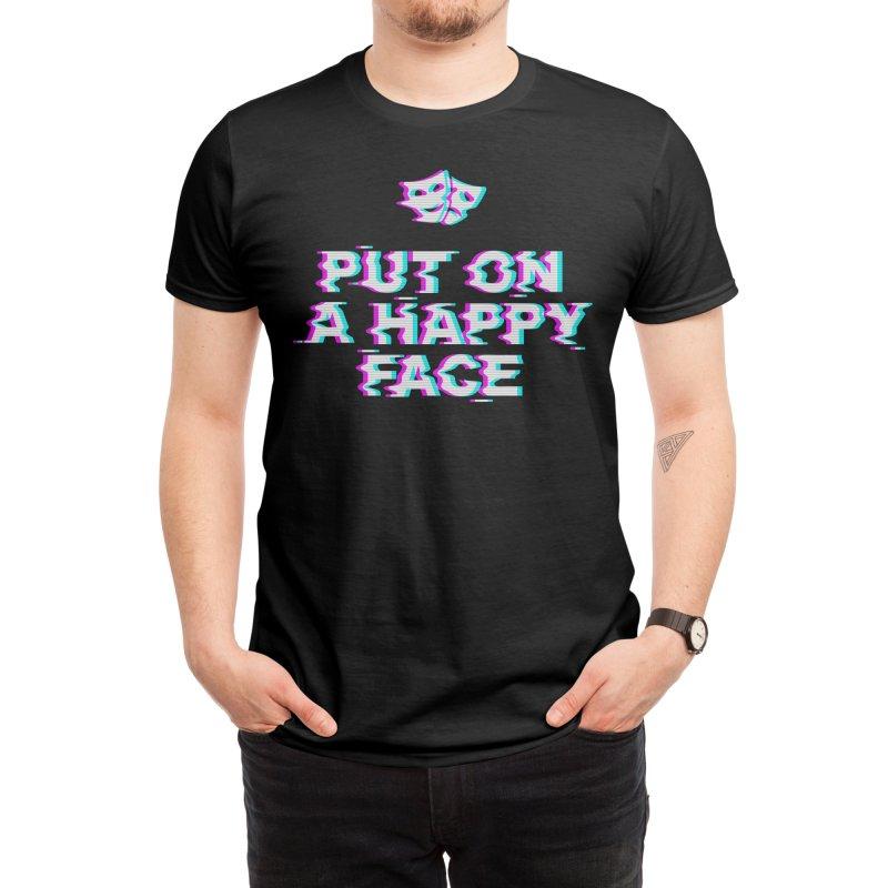 Put On a Happy Face Men's T-Shirt by Deniart's Artist Shop