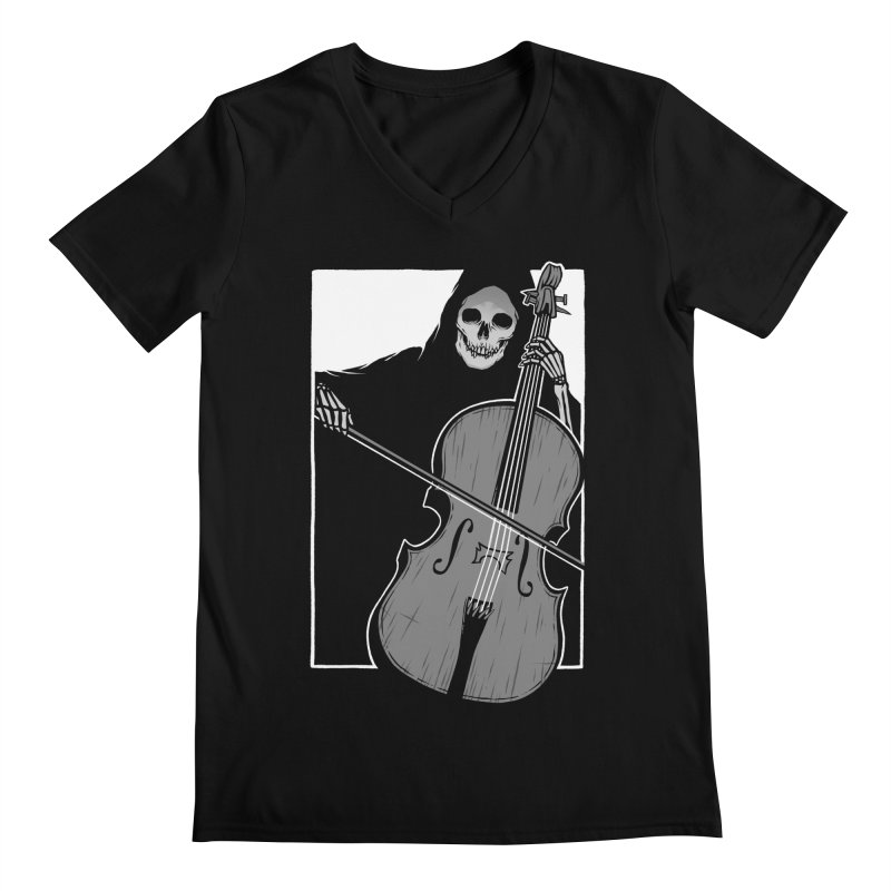 Symphony of Death Men's Regular V-Neck by Deniart's Artist Shop