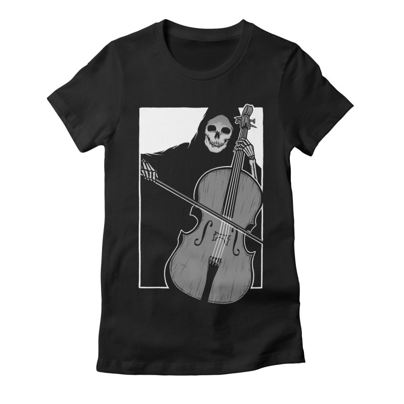 Symphony of Death Women's Fitted T-Shirt by Deniart's Artist Shop