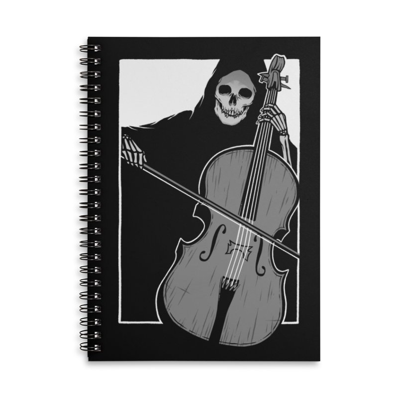 Symphony of Death Accessories Lined Spiral Notebook by Deniart's Artist Shop