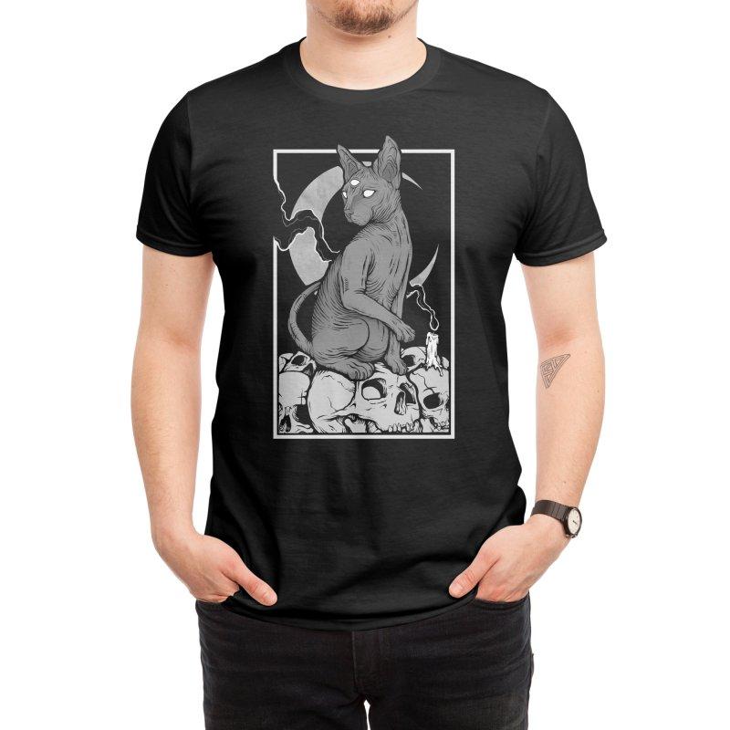 Occult Cat Men's T-Shirt by Deniart's Artist Shop