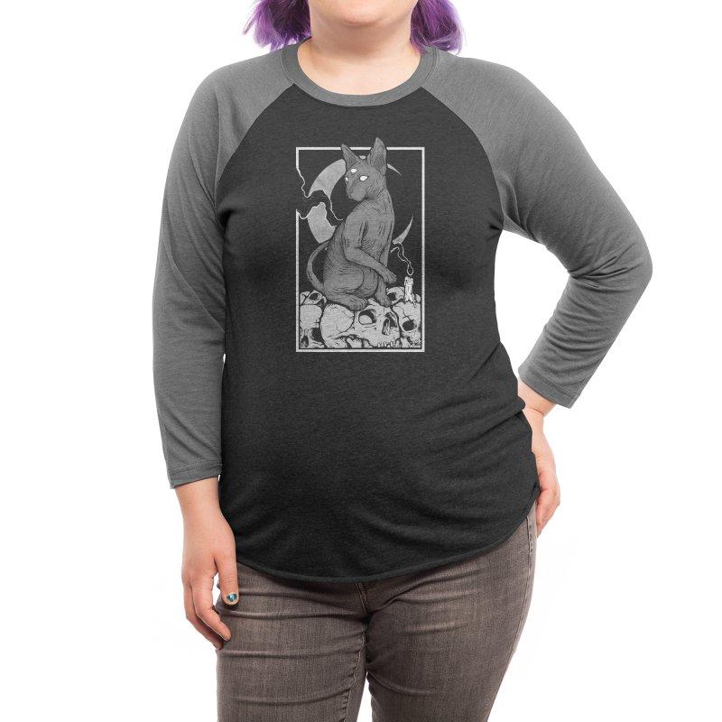 Occult Cat Women's Longsleeve T-Shirt by Deniart's Artist Shop