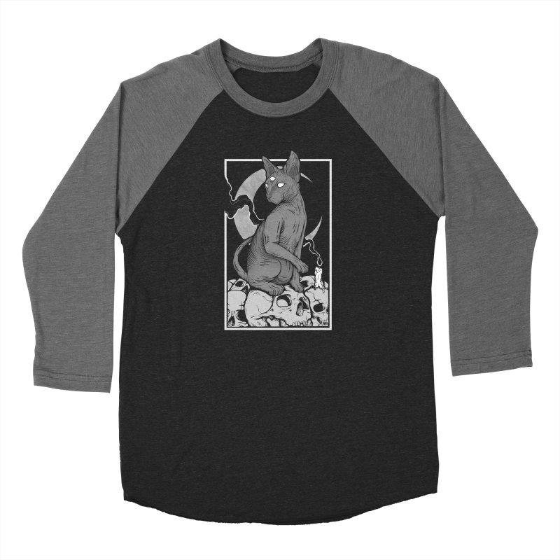 Occult Cat Women's Baseball Triblend Longsleeve T-Shirt by Deniart's Artist Shop