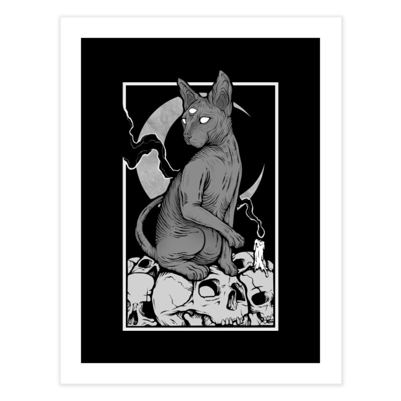 Occult Cat Home Fine Art Print by Deniart's Artist Shop