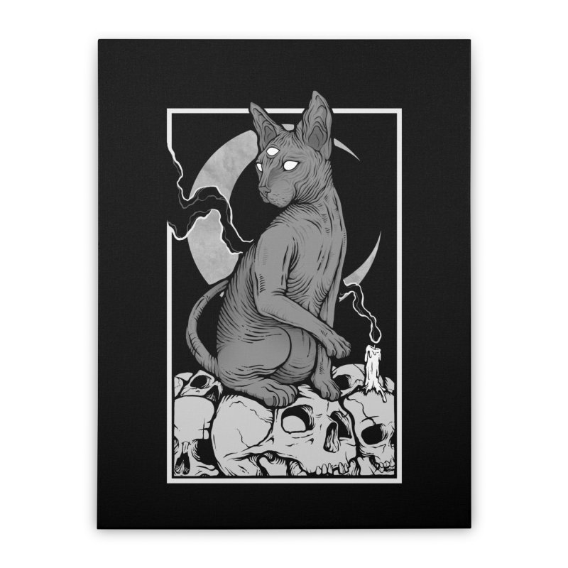 Occult Cat Home Stretched Canvas by Deniart's Artist Shop