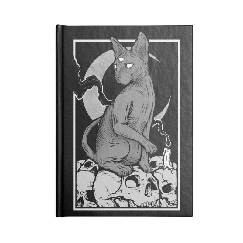 Occult Cat Accessories Lined Journal Notebook by Deniart's Artist Shop