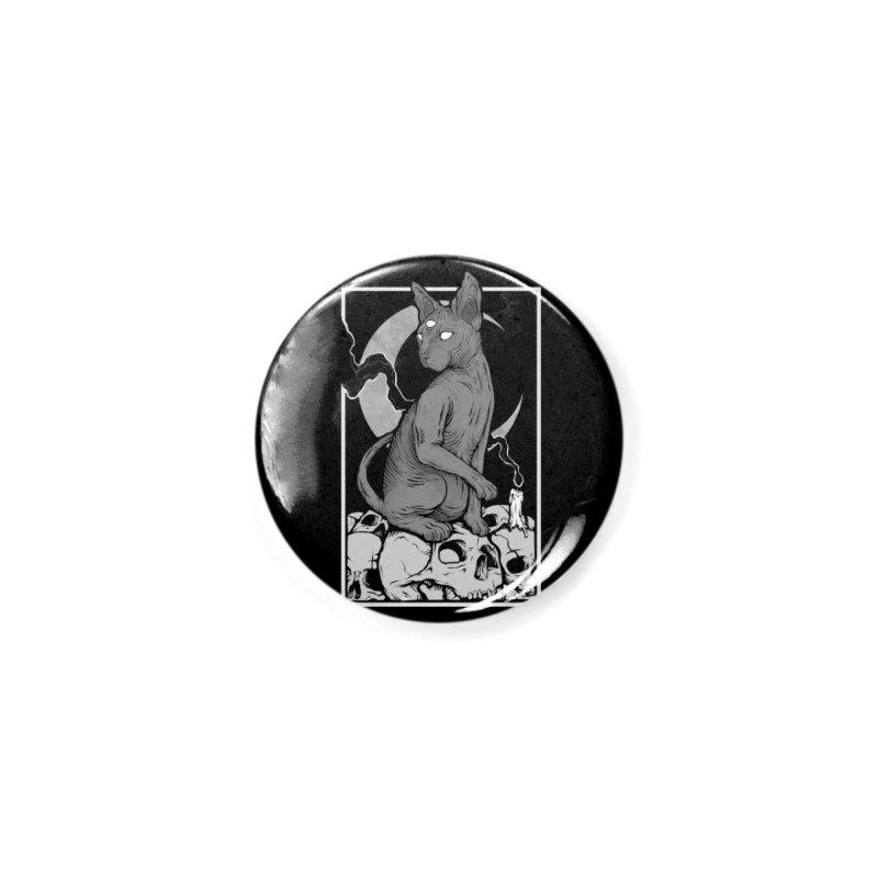 Occult Cat Accessories Button by Deniart's Artist Shop