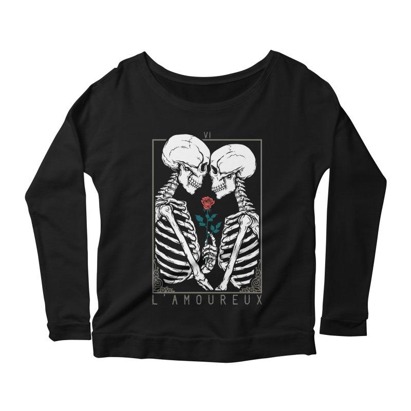 VI The Lovers Women's Scoop Neck Longsleeve T-Shirt by Deniart's Artist Shop