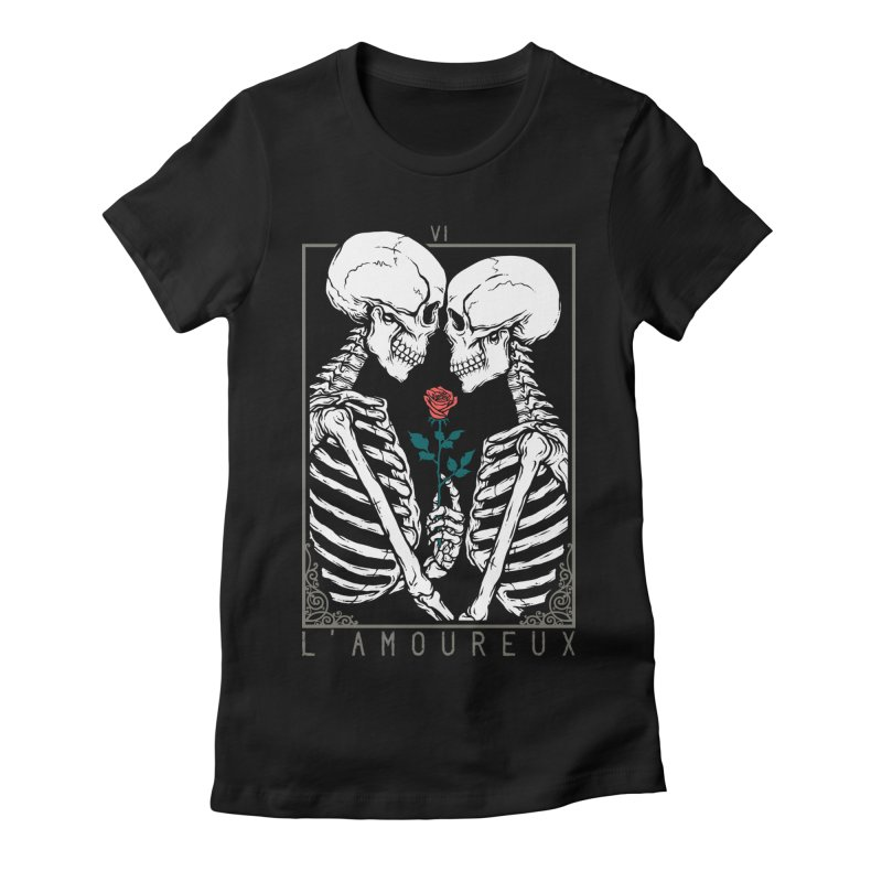 VI The Lovers Women's Fitted T-Shirt by Deniart's Artist Shop