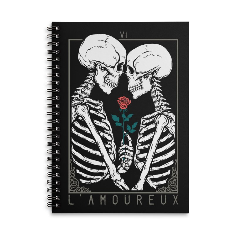 VI The Lovers Accessories Lined Spiral Notebook by Deniart's Artist Shop