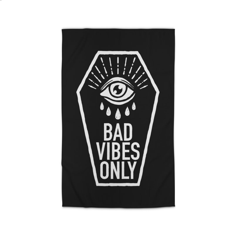 Bad Vibes Only Home Rug by Deniart's Artist Shop