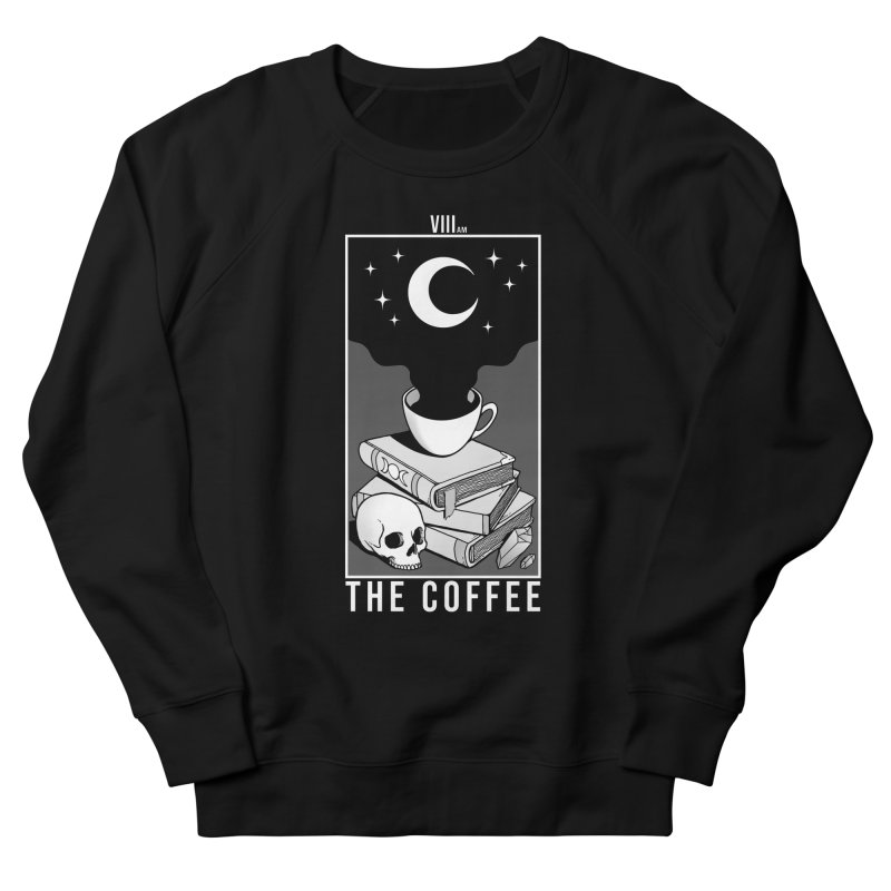 The Coffee Men's French Terry Sweatshirt by Deniart's Artist Shop