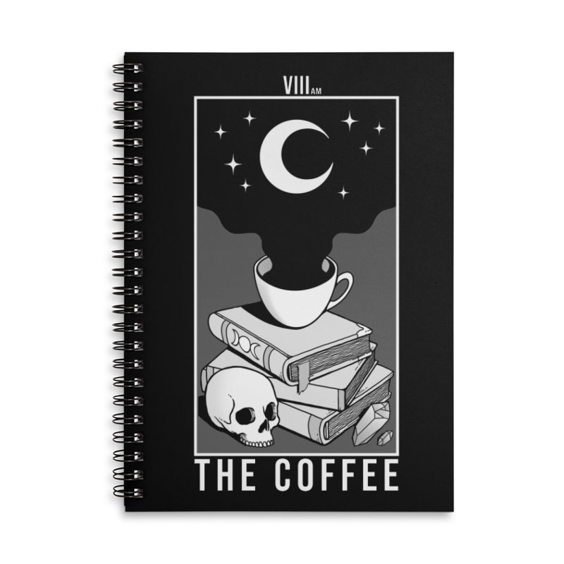 The Coffee Accessories Lined Spiral Notebook by Deniart's Artist Shop
