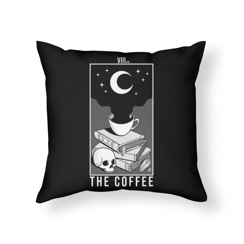 The Coffee Home Throw Pillow by Deniart's Artist Shop