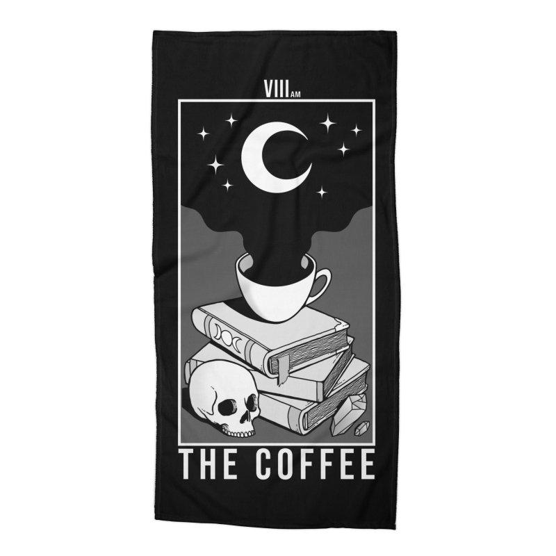 The Coffee Accessories Beach Towel by Deniart's Artist Shop