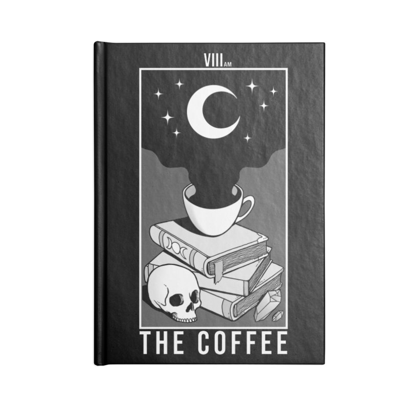 The Coffee Accessories Lined Journal Notebook by Deniart's Artist Shop