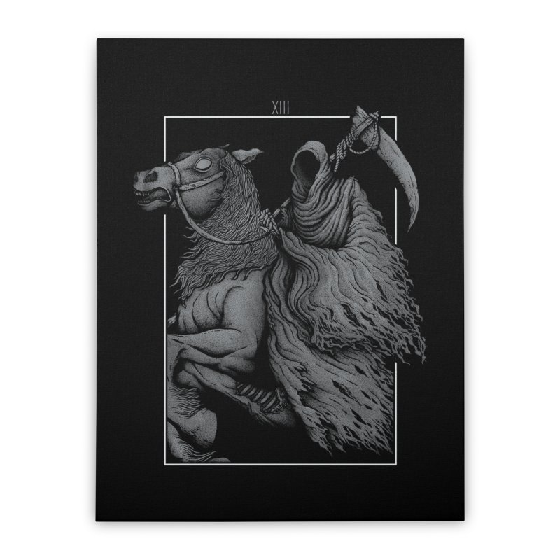 Death Home Stretched Canvas by Deniart's Artist Shop